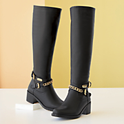 Gold-Chain Boot by Monroe and Main
