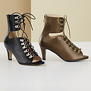 Lace-Up High-Collar Sandal by Monroe and Main