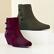 Buttoned Wedge Bootie by Classique