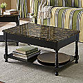 Black Faux-Marble Coffee Table