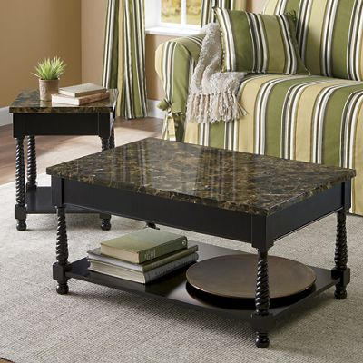 Black Faux-Marble Tables