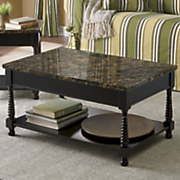 black faux marble coffee table 2