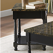 black faux marble end table 4