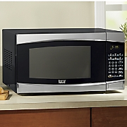 countertop essential 1 4 cu  ft  stainless steel microwave oven by montgomery ward