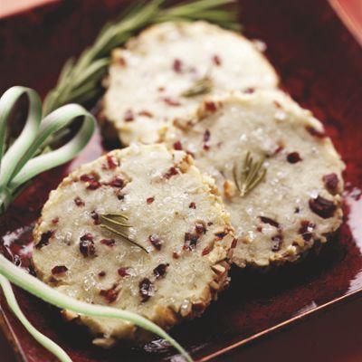Rosemary Blue Cheese Ice Box Cookies