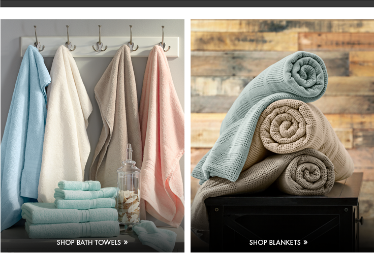 Bath Towels category link, featuring the Twice as Nice 6-piece Towel Set