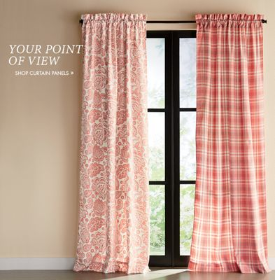 Banner Your Point of View. Featuring Chesapeake Mix N Match Window Treatments & Curtains - Sets Valances Panels Living Room Kitchen | Country Door