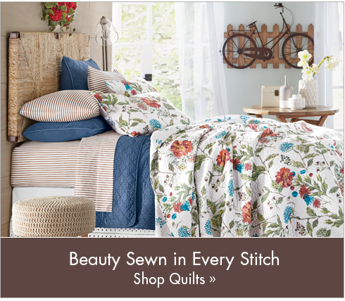 Banner: Beauty Sewn in Every Stitch, featuring the Meadow Oversized Quilt