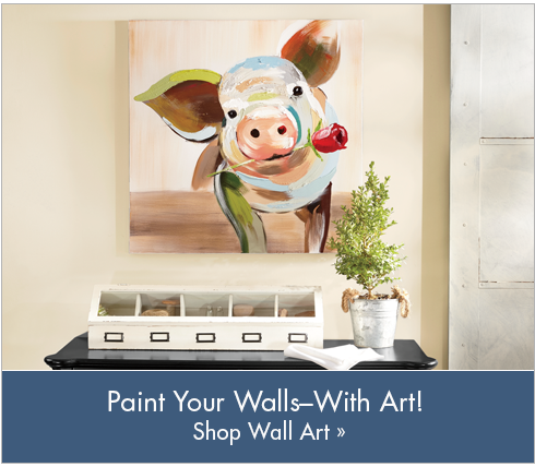 Banner: Paint Your Walls - With Art! Featuring the Abstract Pig Art