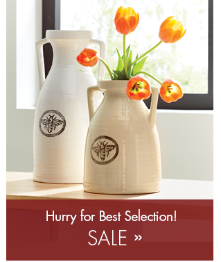 Section Link to Sale Items, featuring Trisha Yearwood's Honeybee Decorative Vases