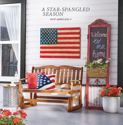 Banner A Star-Spangled Season Shop Americana featuring Metal Flag Chalkboard Wall Decor & Holiday \u0026 Seasonal Décor - Fall Halloween Christmas | Country Door ...