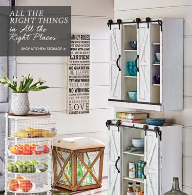 Banner All the Right Things in All the Right Places Shop Kitchen Storage featuring  sc 1 st  Country Door & Kitchen - Décor Dishware Storage Small Appliances | Country Door