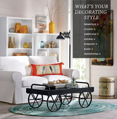 Decorating Styles Part - 31: Banner: Whatu0027s Your Decorating Style? Farmhouse Coastal Americana Natural  Romantic Rustic Transitional, Featuring