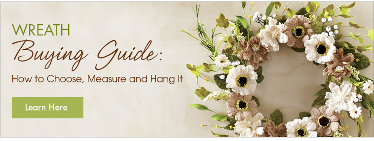 Wreath Buying Guide: How to Choose, Measure and Hang It.  Learn Here.