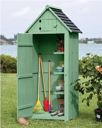 Banner: How Does Your Garden Grow? Shop Lawn & Garden, featuring Vertical Wooden Garden Shed