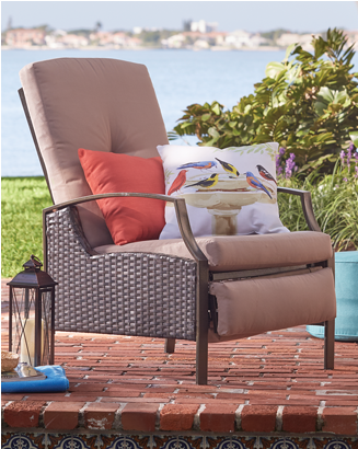 Banner: Shop Outdoor Furniture, featuring the Outdoor Recliner