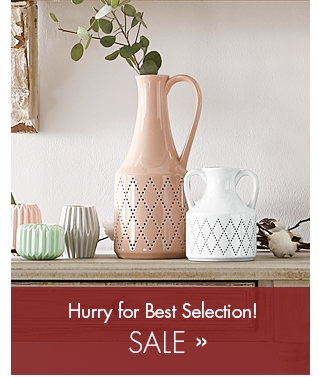 Banner: Sale - Save up to 70%! Featuring Glazed Ceramic Jugs