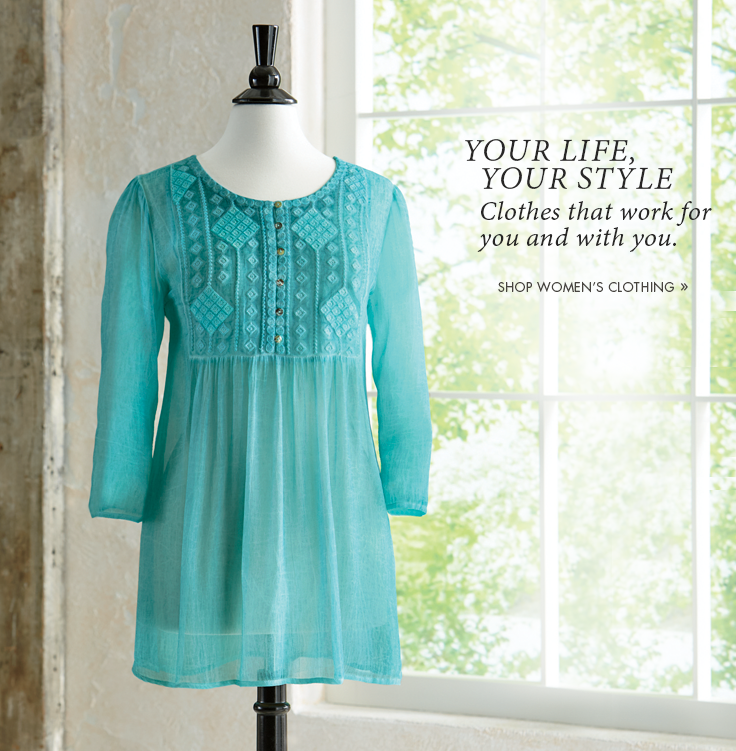 Your Life, Your Style  Clothes that work for you and with you.  Shop Women's Clothing, featuring Falling Diamonds Blouse