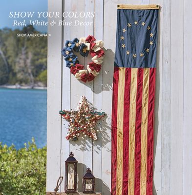 Banner: Show Your Colors featuring red white and blue decor including the