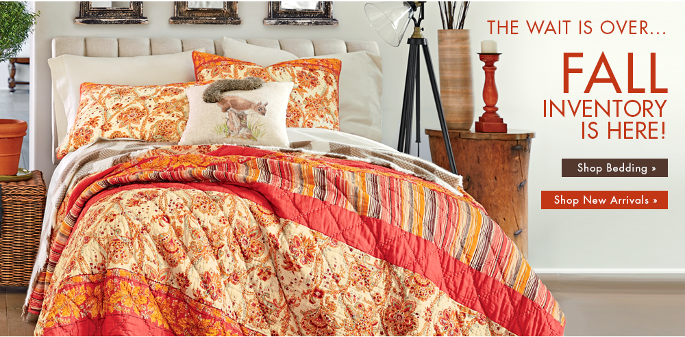 Banner  The Wait Is Over    Fall Inventory is Here  Featuring Saffron. Country Door   Kitchen  Furniture  Bedding  Home D cor