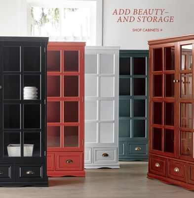 Banner: Add Beauty\u2013and Storage Shop Cabinets featuring Saunders Cabinet & Furniture - Rustic Farmhouse Modern Country | Country Door Pezcame.Com