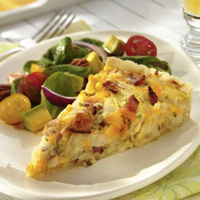 Wisconsin Cheddar, Onion And Bacon Tart