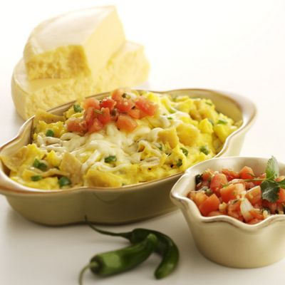 Chilaquiles de Huevos with Wisconsin Queso Quesadilla Cheese