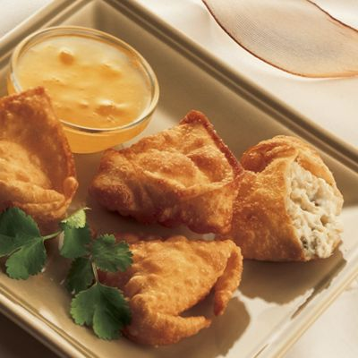 Wisconsin Blue Cheese And Crab Won Tons