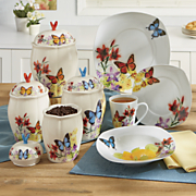 Butterfly DInnerware Set and Canister Set