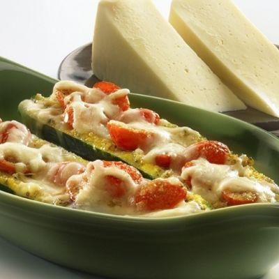 Wisconsin Fontina-Stuffed Zucchini