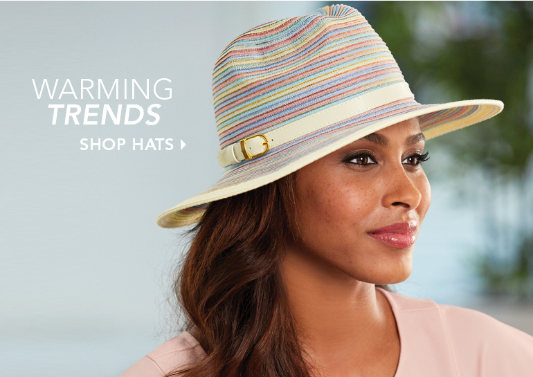 Warming Trends Shop Hats, featuring Mixed Braid Belted Fedora