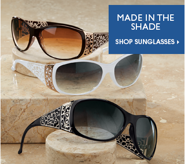 Made in the Shade Shop Sunglasses, featuring Scroll Side Sunglasses