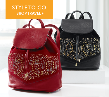 Style to Go Shop Travel, featuring Studded Backpack