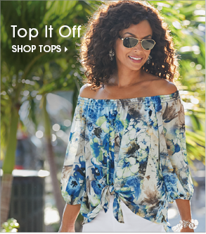 Top It Off Shop Tops, featuring Off Shoulder Floral Top