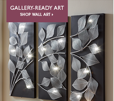 Gallery-Ready Art Shop Wall Art, featuring 3 panel Lit Leaves Wall Art