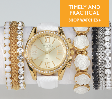 Timely and Practical Shop Watches, featuring 5-pc Watch/Stretch Bracelet Set