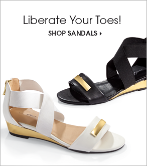 Liberate Your Toes! Shop Sandals, featuring Gold Wedge Sandal