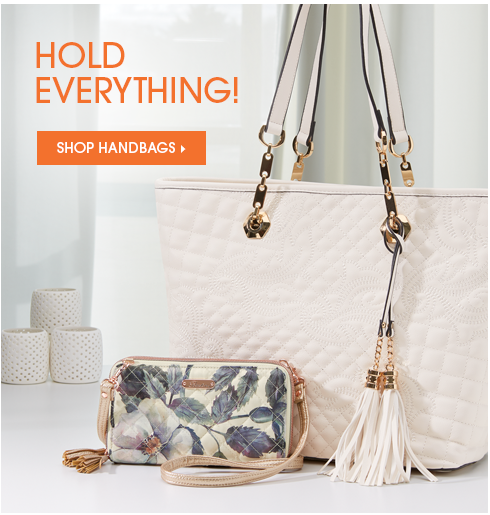 Hold Everything! Shop Handbags, featuring Quilted Accent Tote