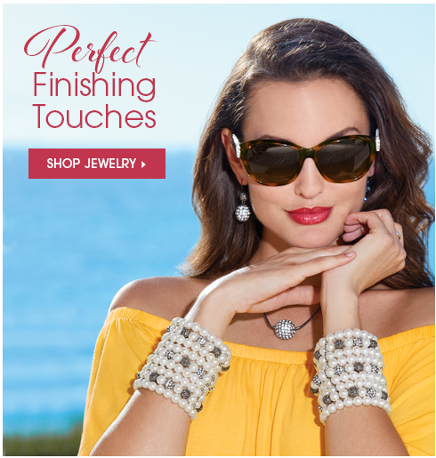 Perfect Finishing Touches Shop Jewelry, featuring Crystal/Pave Ball Jewelry Collection