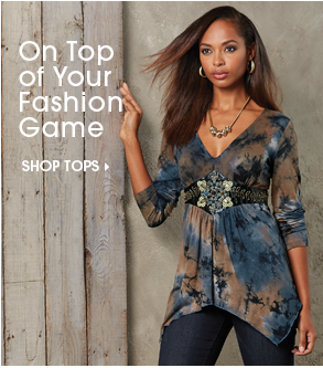 On Top of Your Fashion Game - Shop Tops, featuring Embroidered Tie-Dye Top