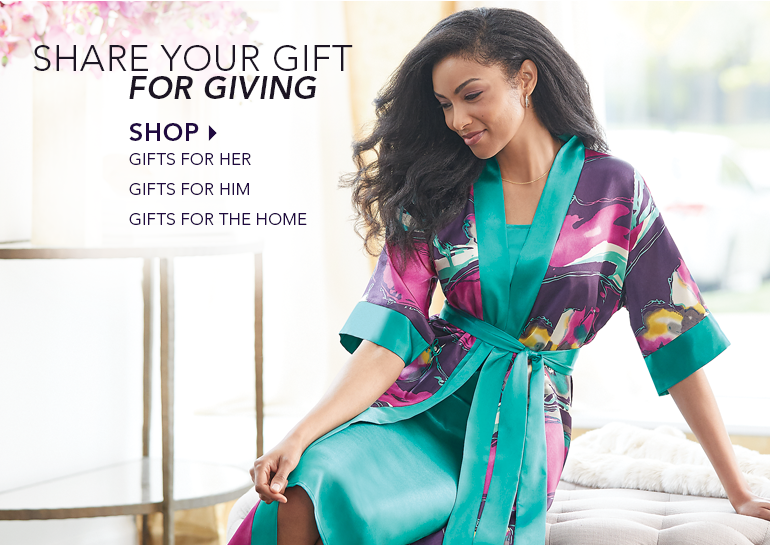Share Your Gift for Giving, featuring Mystic Mirage Robe/Gown