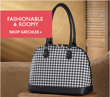 Fashionable & Roomy - Shop Satchels, featuring Houndstooth Dome Bag