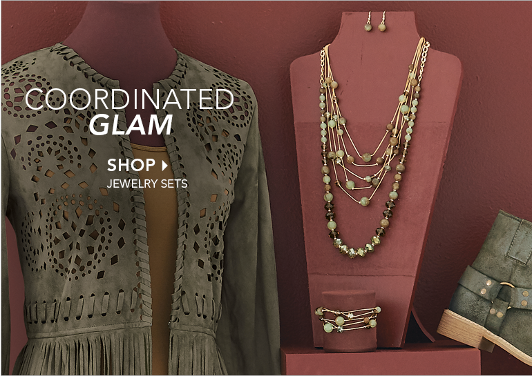 Coordinated Glam - Shop Jewelry Sets, featuring Multistrand Necklace/Bracelet Set