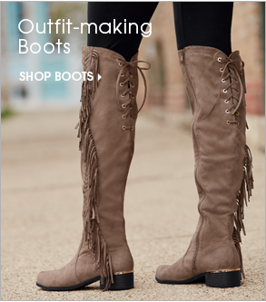 Outfit-making Boots - Shop Boots, featuring Fringe Over the Knee Boot