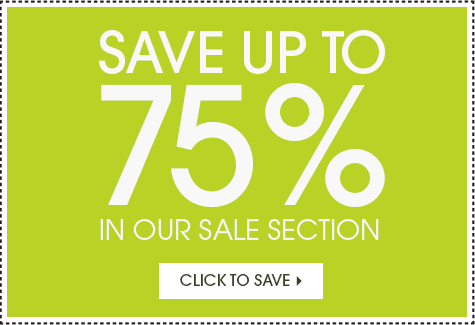 Up to 75% off In Our Sale Section