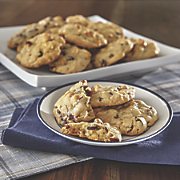 White Chocolate Cranberry and Macadamia Nut Cookies