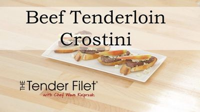 Tenderloin and Blue Cheese Crostini