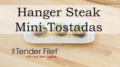 Spice Rubbed Hanger Steak Mini Tostadas