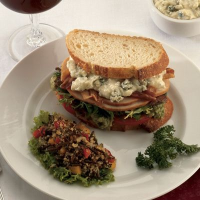 Smoked Turkey Cobb Sandwich with Wisconsin Blue Cheese Mayonnaise