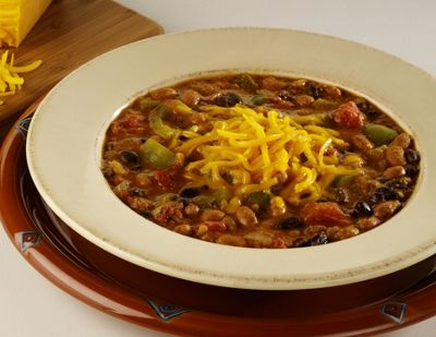 Three Bean Chili With Wisconsin Colby